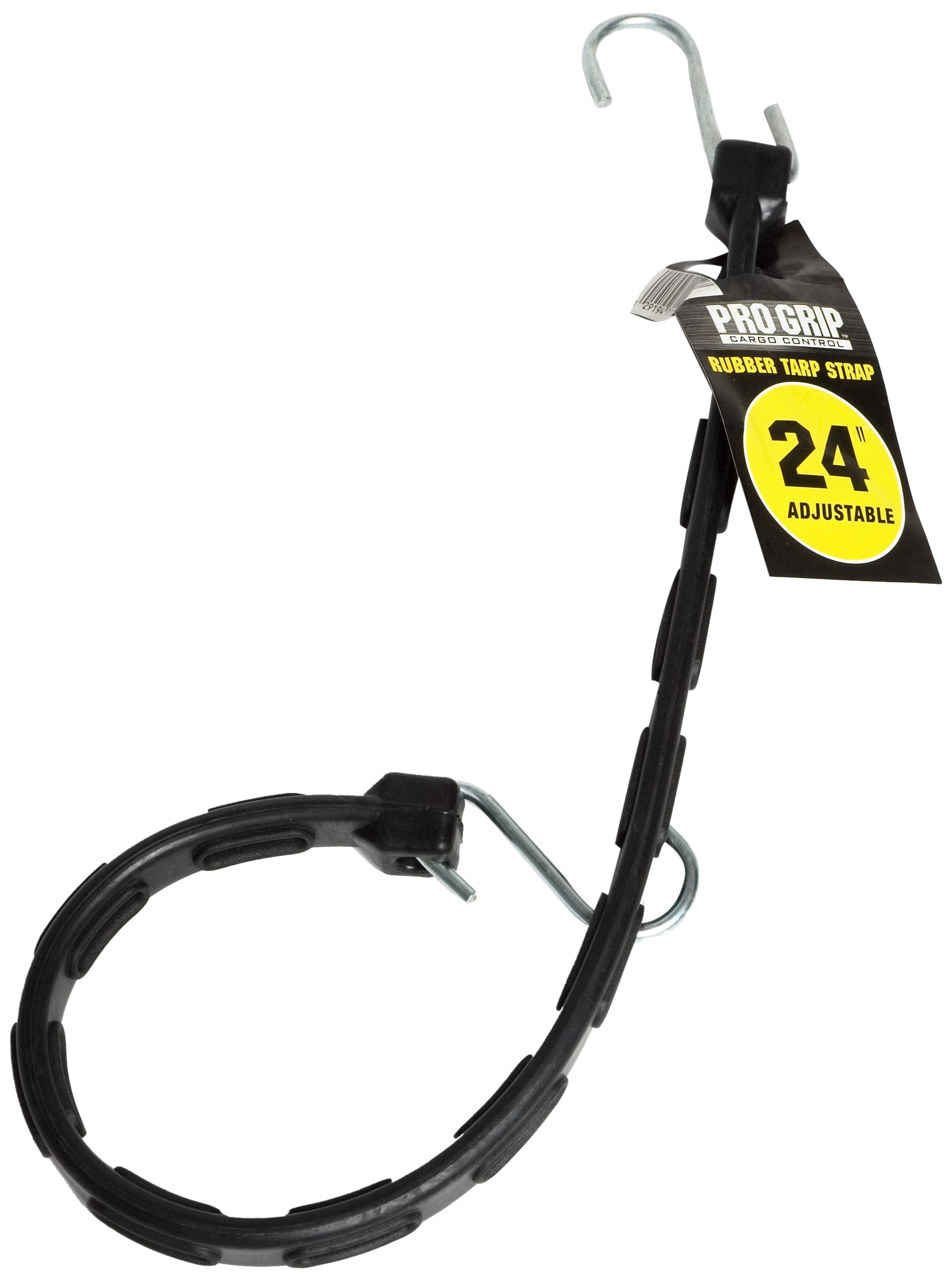 ProGrip 712400 Natural Rubber Adjustable Tarp Strap with S Hooks: 24''Length