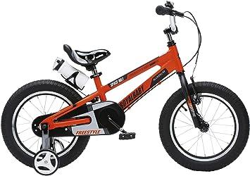 RoyalBaby Space No. 1 bicicleta de aluminio para niños para niños y niñas, de 3 a 6 años, 12 pulgadas, 16 pulgadas, con ruedas de entrenamiento y soporte de estacionamiento: Amazon.es: Deportes y aire libre