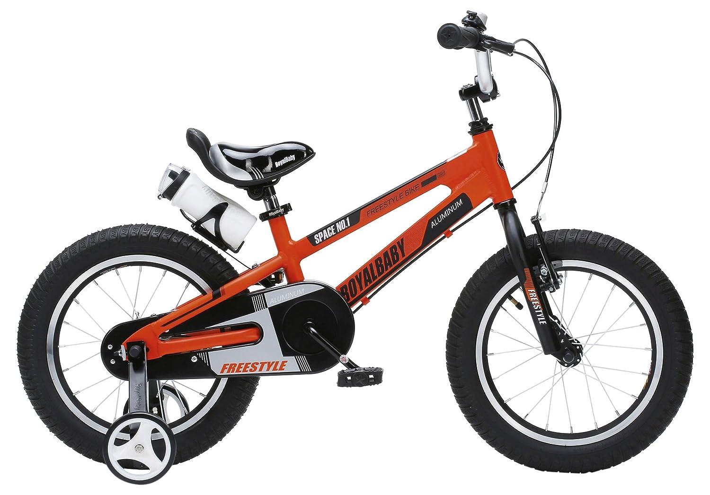 16 Pollici Bici Alluminio Bambine con Ruote da Allenamento e Supporto per Il Parco Unisex Royal Baby Space No.1 Alloy da 3-6 Anni 12