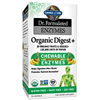 Garden of Life Organic Chewable Enzyme Supplement - Dr. Formulated Enzymes Organic...