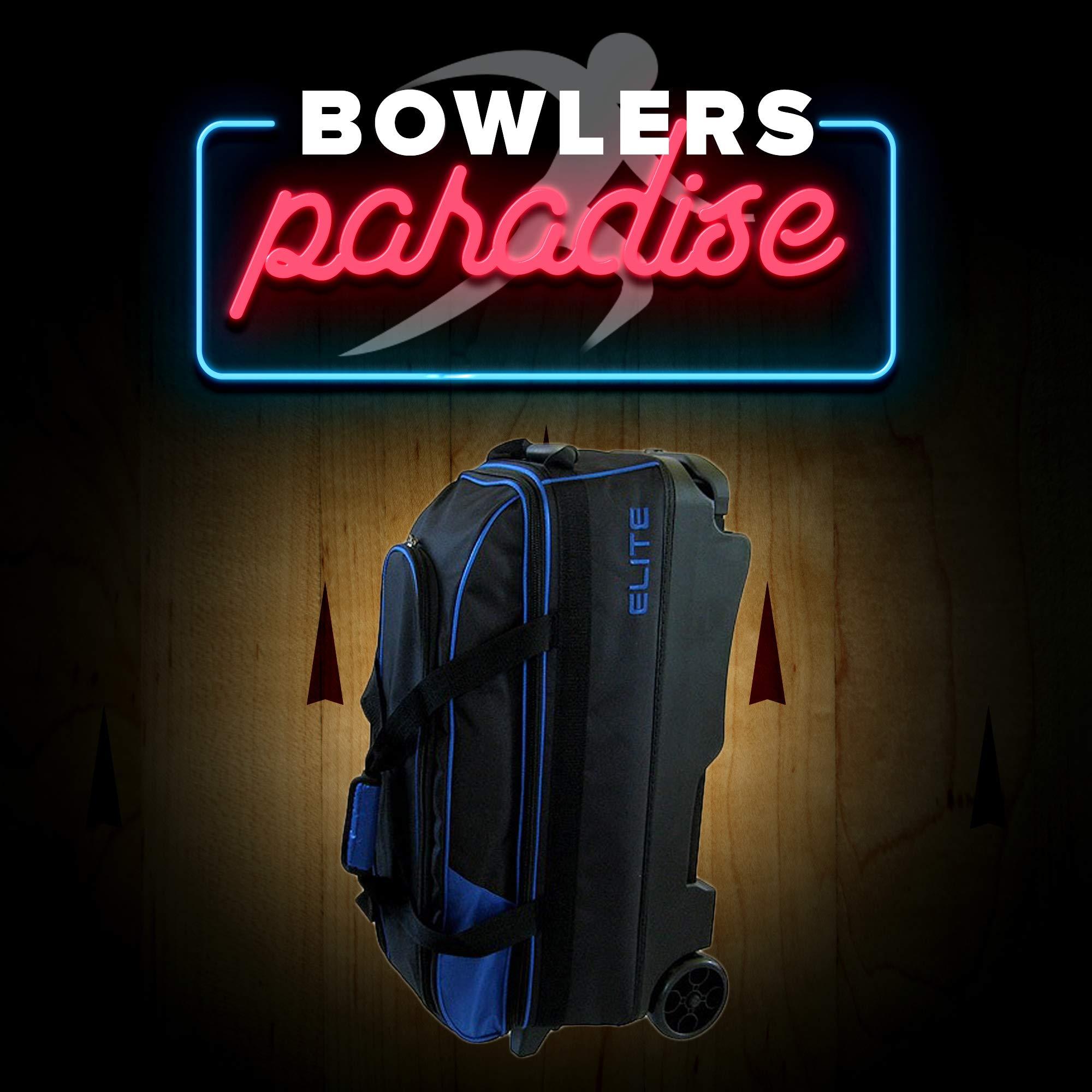 Elite 3 Ball Rolling Bowling Bag - Blue