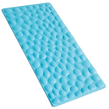 nonslip soft rubber bathtub mat othway bathroom bathmat with strong suction cups blue