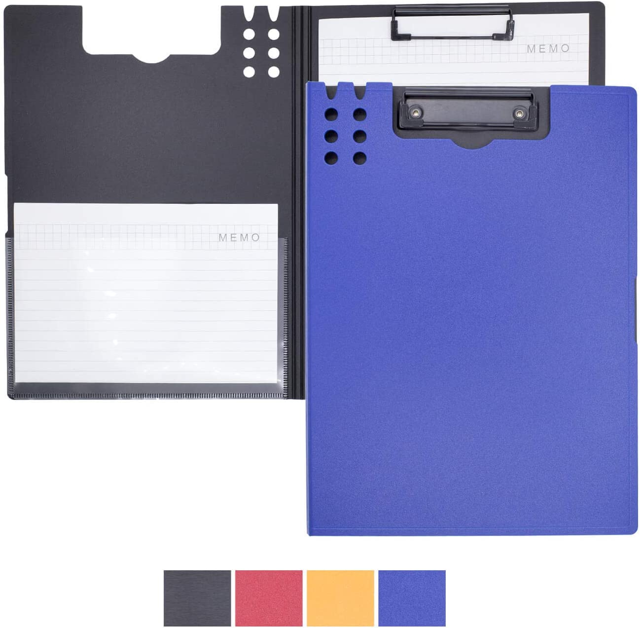 Clipboard with Storage Flip Folder Clip Boards,Plastic Clipboards for Nurses with Pocket,Storage Clipboard Suitable for All Professions Nurse Clipboard/Business Office/Truck Driver.(DarkBlue,Frosted)