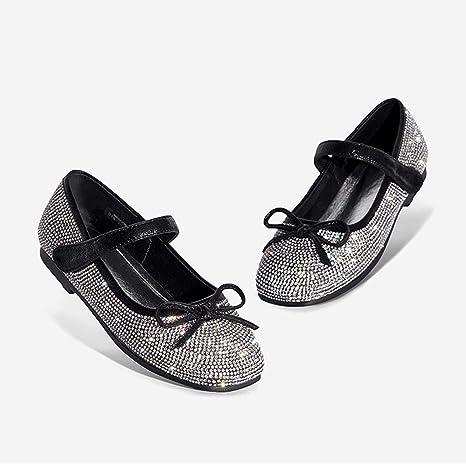 AIBAB Zapatos De Niños Zapatos De Niñas Diamante De Imitación Zapatos De Princesa Zapatos Planos Casuales