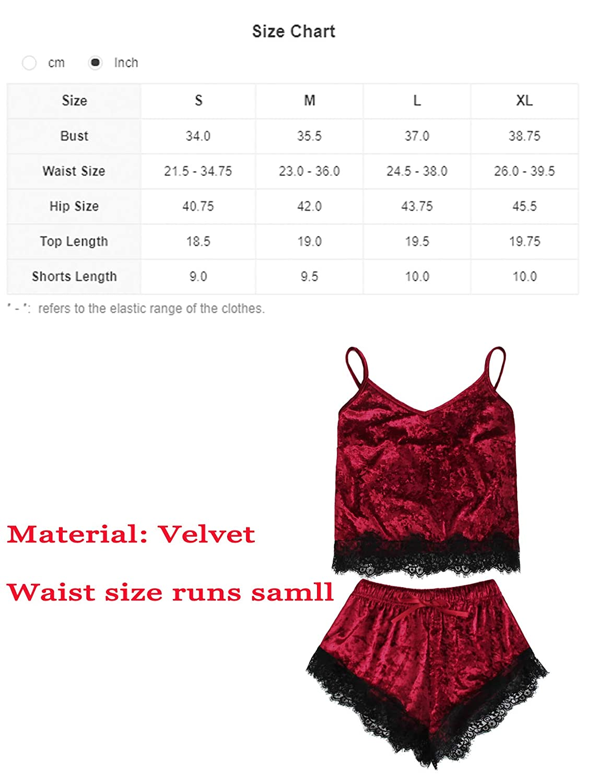 MAKEMECHIC Womens Lace Satin Sleepwear Cami Top and Shorts Pajama Set