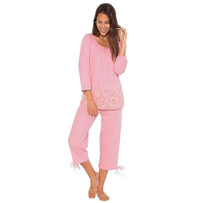 VENCA Pijama Camiseta Estampada de Escote Redondeado y Manga raglán al Codo con puño elástico by Vencastyle: Amazon.es: Ropa y accesorios