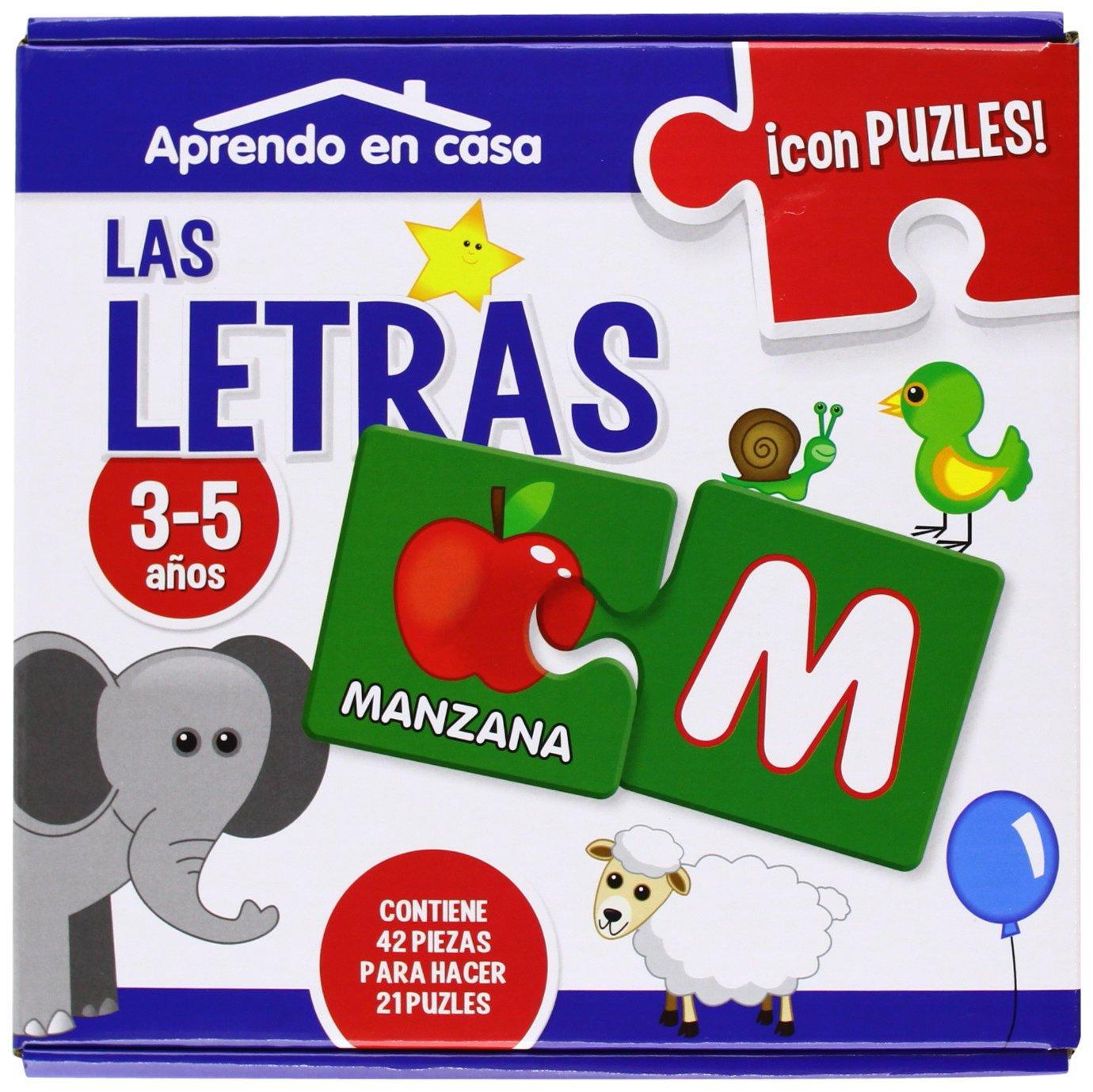 APRENDO EN CASA LAS LETRA PUZLES EDUCATIVOS (3-5 años) Tapa dura – 11 dic 2013 Mónica MARTÍNEZ VICENTE Ediciones Saldaña S.A. 8499394329
