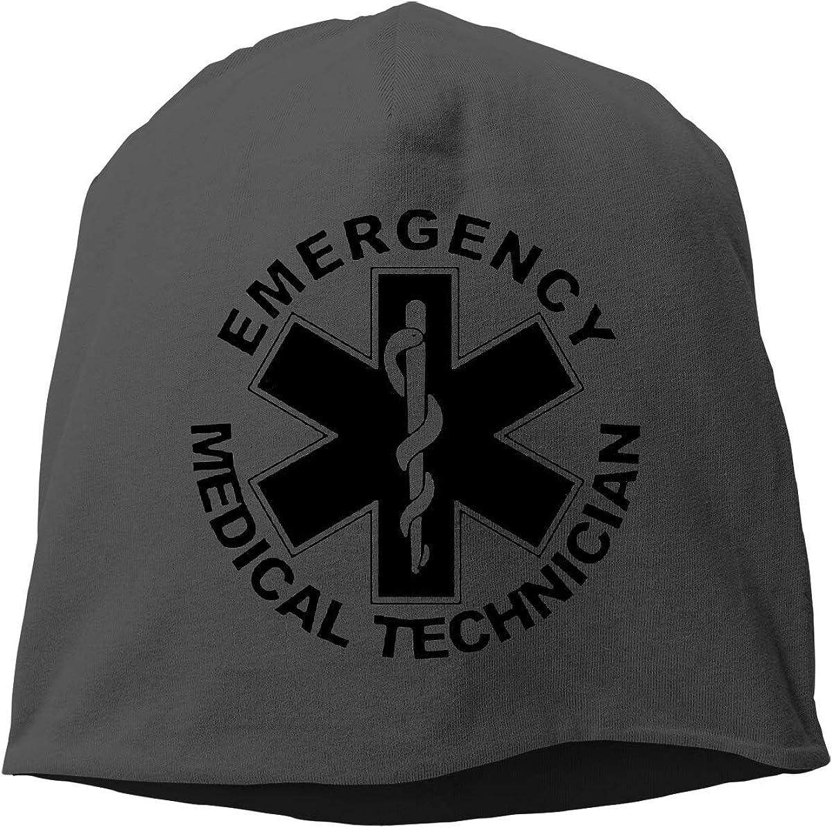 QKQ77 KK7 American Flag EMS Star of Life EMT Paramedic Medic Hedging Hat Unisex Skull Hat Knitted Hat Beanie Cap