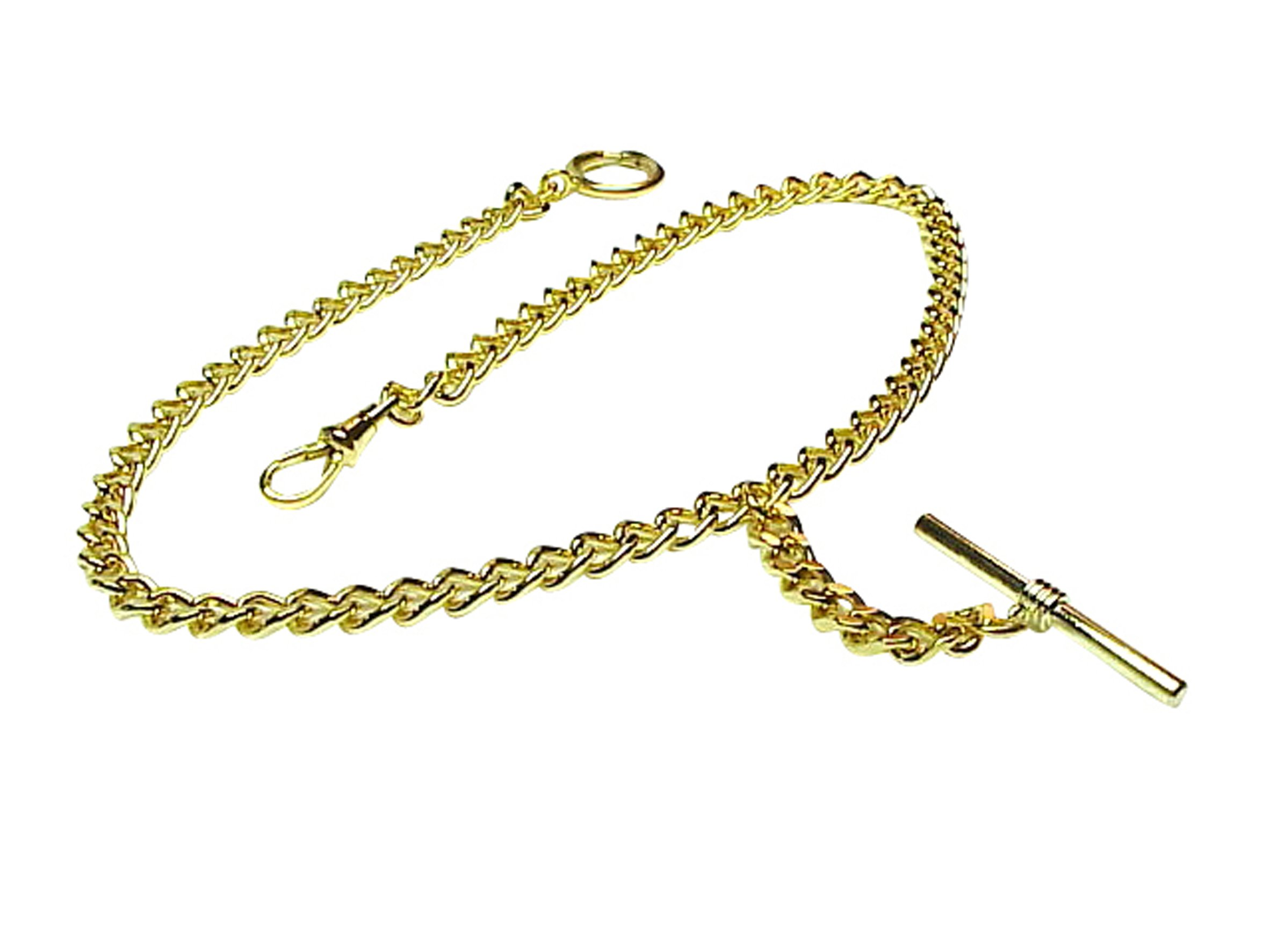 Old Father Time GOLD Single Albert Pocket Watch Chain-914Y