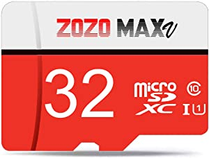 ZOZO MAXV Micro SD Card 32GB High Speed Class 10 Memory Card with Adapter Standard Packaging High Performance Choice for Camera, Cell Phone, Tablets, Smartphones, Laptops, Pictures,Videos,Store Data