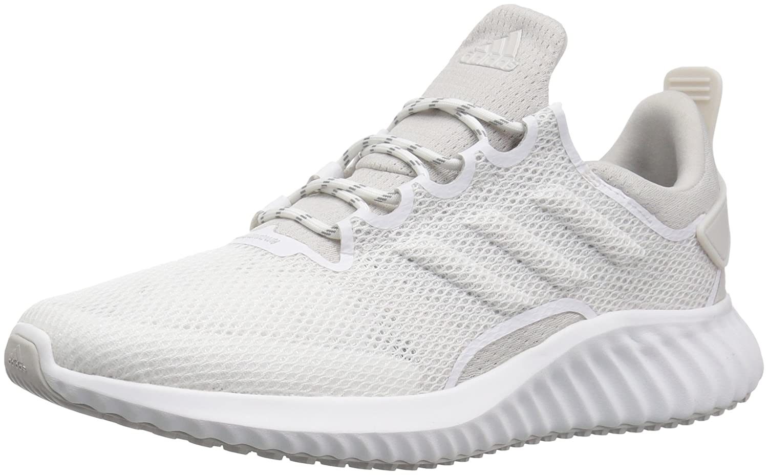 detailed look e9f32 8b5b4 adidas Men s Alphabounce CR CC Running Shoe, White Grey Chalk Pearl, 6.5 M  US  Amazon.co.uk  Shoes   Bags