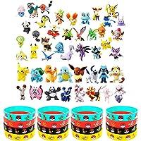 OMZGXGOD - 48 Piezas Pikachu Monstruo Mini Figuras