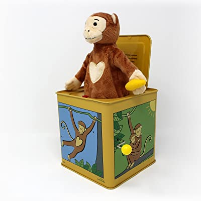 Jack The Monkey Tin Jack In The Box: Toys & Games