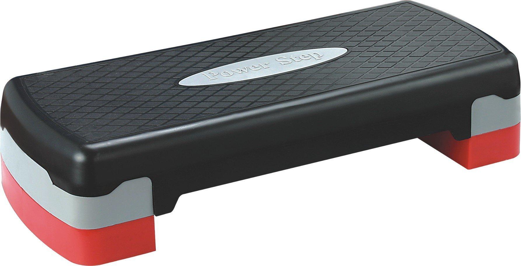 KLB Sport 27'' Adjustable Exercise Equipment Step Platform with 2 Risers