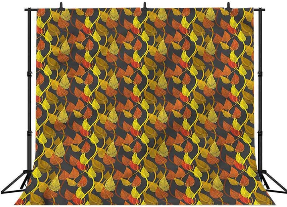 8x8FT Vinyl Wall Photography Backdrop,Autumn Fall,Romantic Nature Theme Background for Party Home Decor Outdoorsy Theme Shoot Props