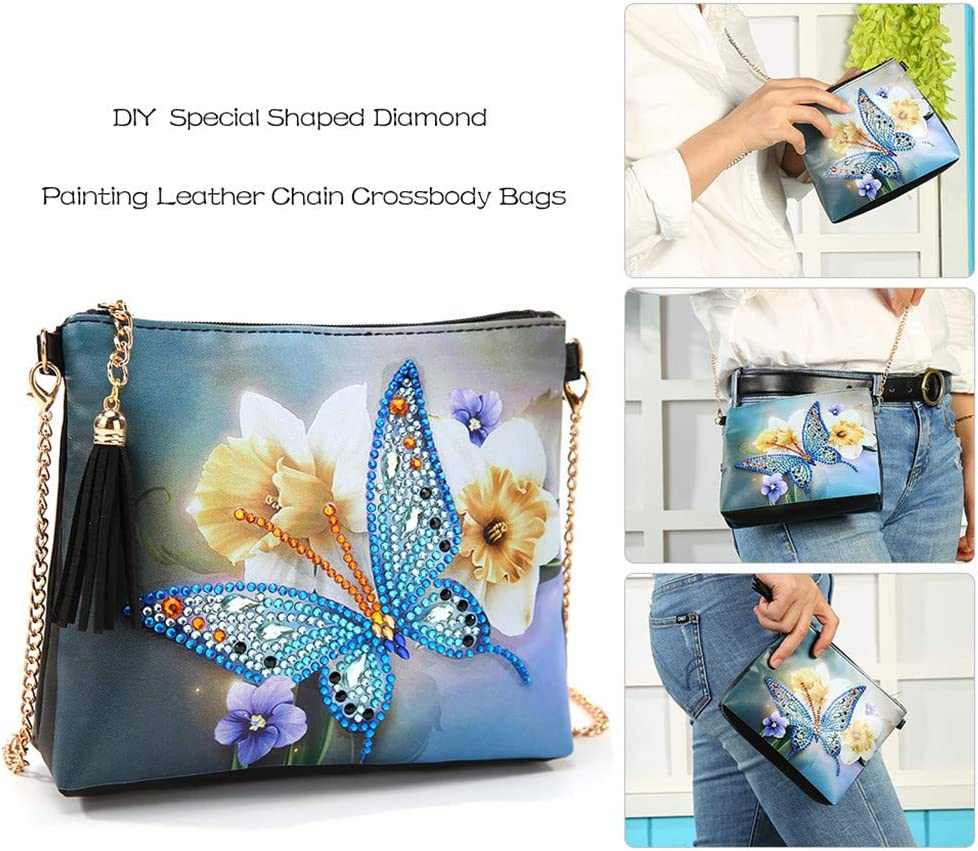 Bag Leather Credit Card Case ID Card Holder Cross Stitch 5D Diamond Painting