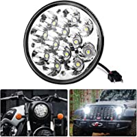 """H5001 Led Headlight Par46 LED Light for Unity Spotlight, 5.75"""" 5-3/4"""" Round Led Pods for Truck Offroad Led Work Light Replacement Sealed Beam Projector 36W Chrome"""