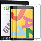 TERSELY [2 Pack] Tempered Glass Screen Protector for Apple New iPad 7/8 (10.2-inch), Premium 9H Hardness HD 2.5D Case…