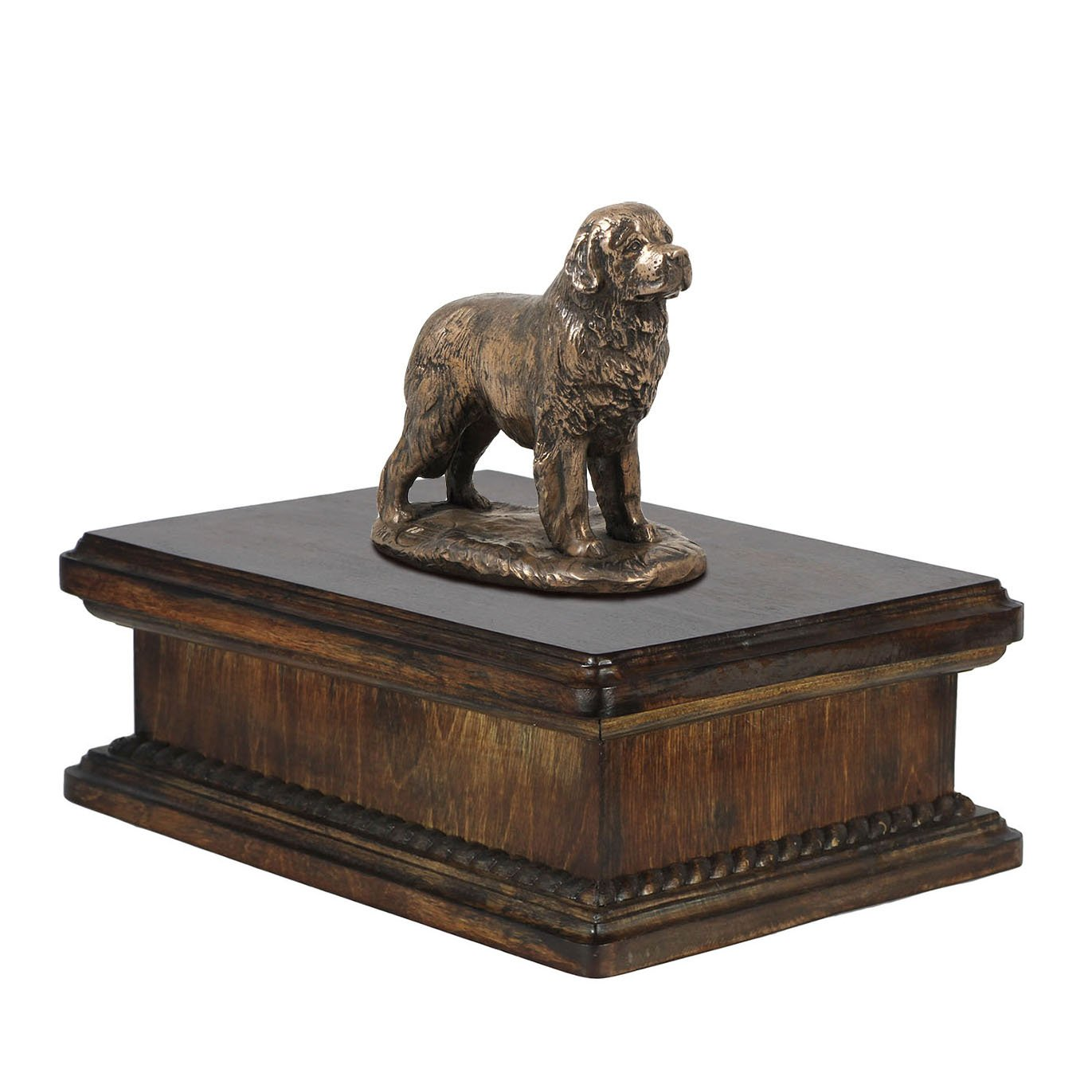 Newfoundland, memorial, urn for dog's ashes, with dog statue, exclusive, ArtDog