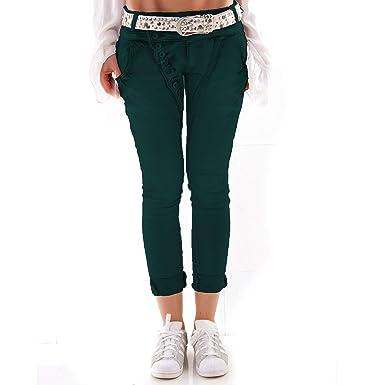 Fashion Designer Damen Jeans Secret Buttons Zipper Jeans Knöpfe Skinny  Baggy Push Up (XS, 49e758caf9