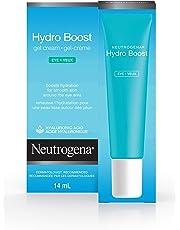 Neutrogena Hydro Boost Gel Eye Cream with Hyaluronic Acid, Under Eye Cream, Unscented, 14 mL