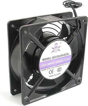 AC 220V-240V 0.14A Metal 2-cableado Ventilador Axial Enfriador ...