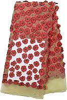 Fabricvilla Women's Net One Meter Material(FV002D03 Gajari Free Size)