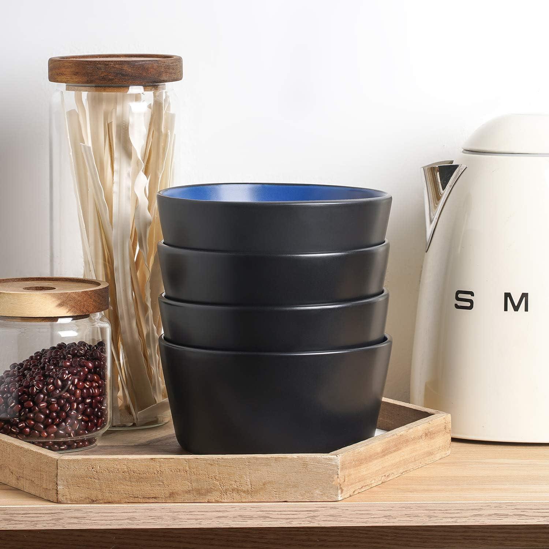 | Stone Lain 32 Piece Glazed Stoneware Dinnerware Set, Service 8, Blue and Black: Dinnerware Sets