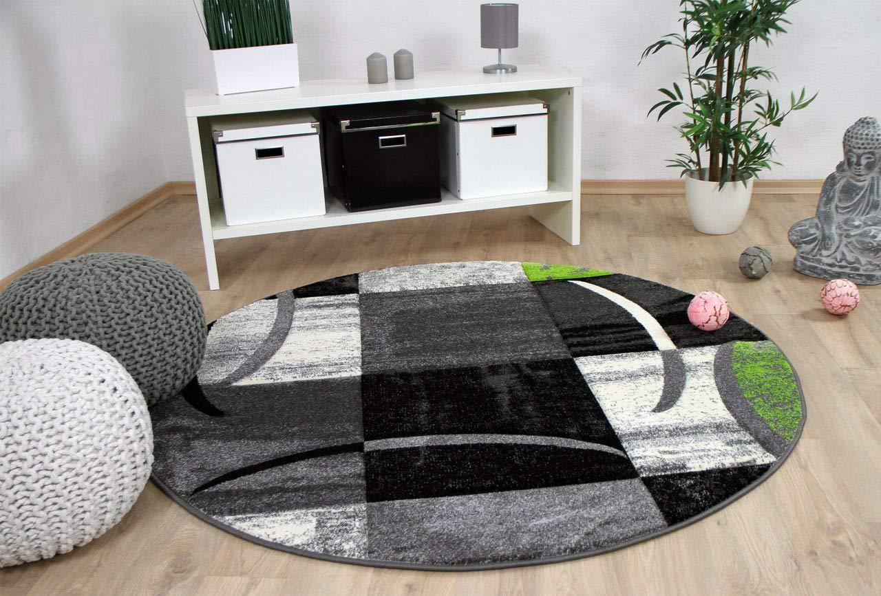 Designer Teppich Grau Brilliant Karo Grau Teppich Grun Trend Rund In