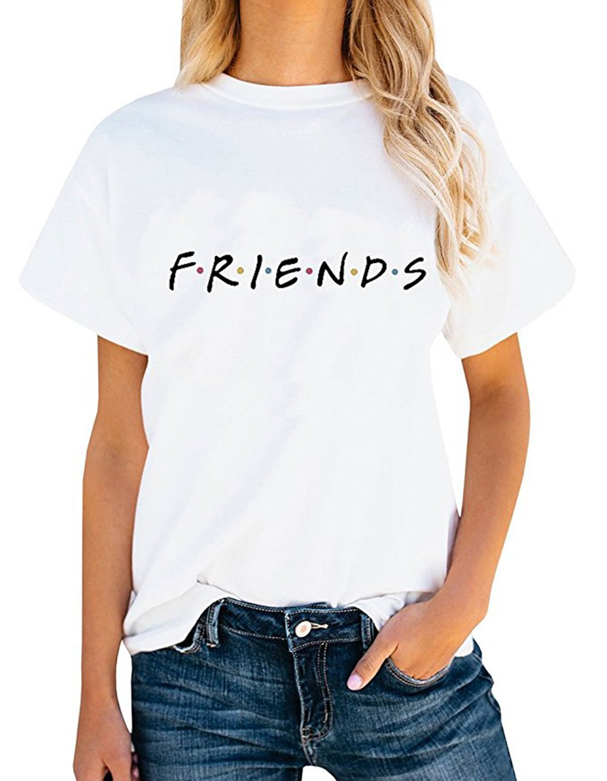 Friends TV Show Shirt Summer Graphic Tees Tops White S