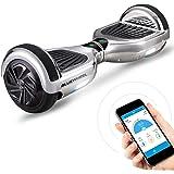 """Vincitore test* Bluewheel Self Balance Scooter Elettrico HX310s, Hover Scooter Elettrico a Due Ruote 6.5"""", Smart Balance Board Elettrico con Bluetooth Speaker, Funzione APP e Fari a LED Induttivi"""