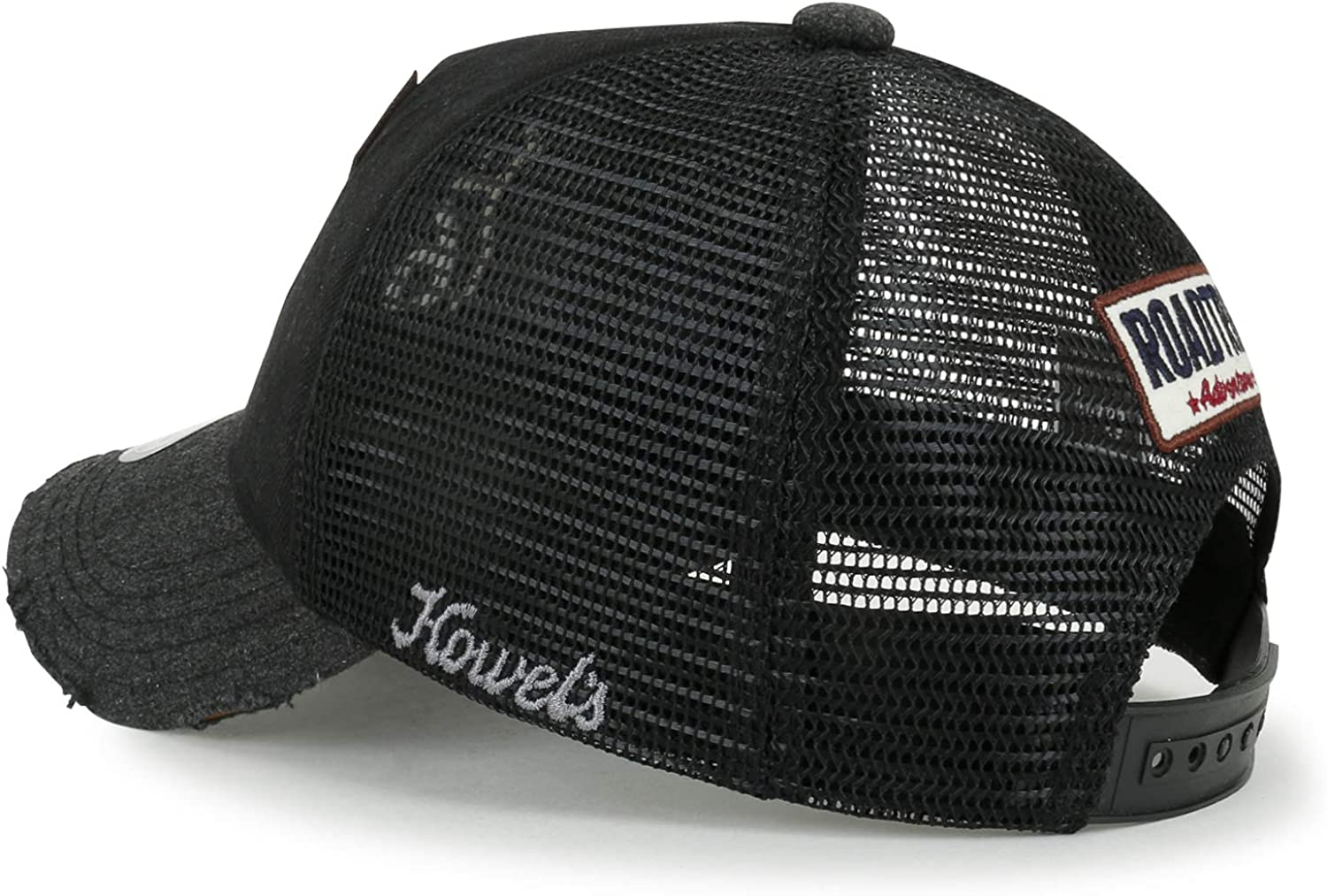 ililily Route 66 Wing Denim Mesh Back Trucker Hat Snapback ...