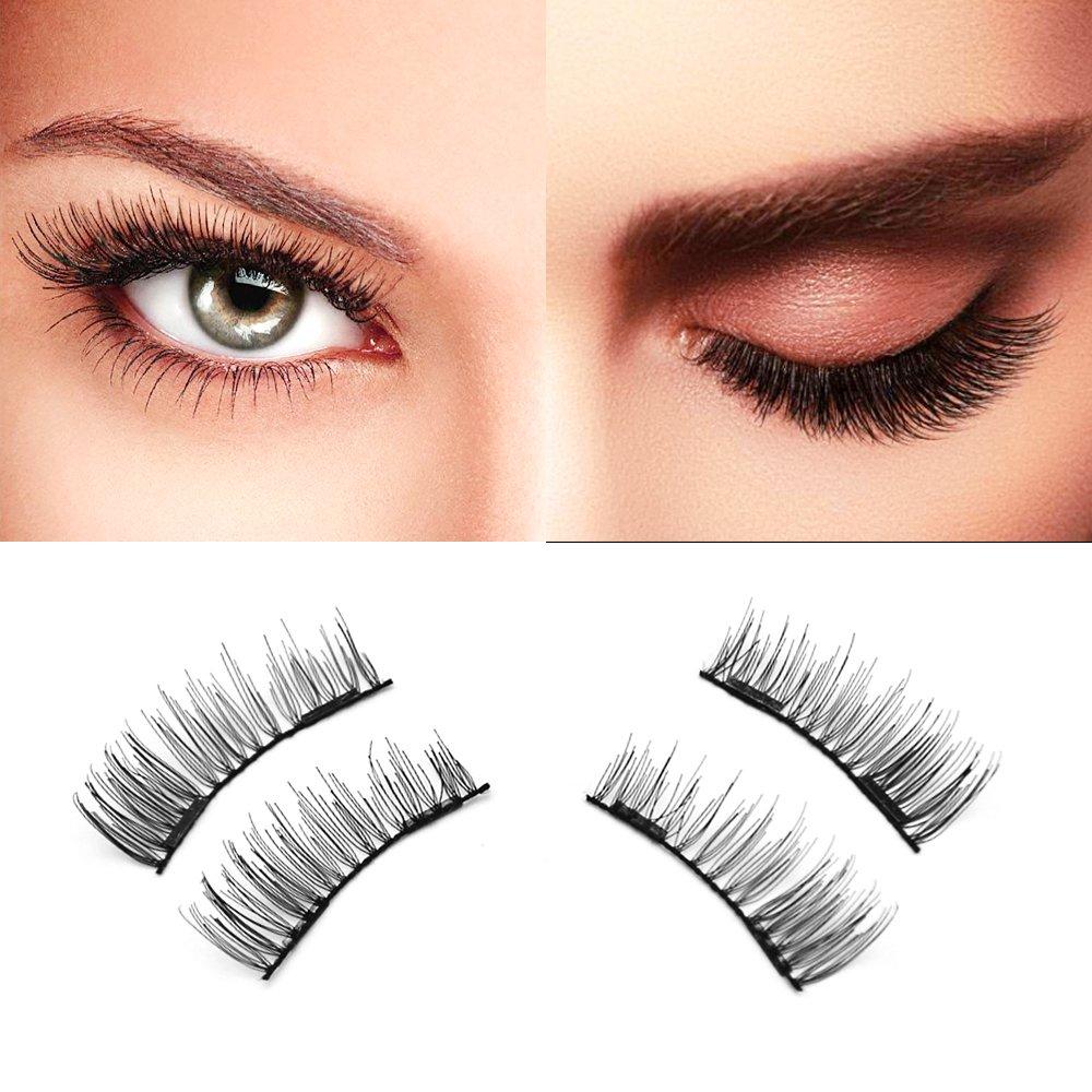 Amazon Dual Magnetic Eyelashes Best No Glue 3d False Eyelashes
