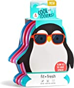 Fit + Fresh Cool Coolers Slim Ice Packs, Penguin Shaped, Long
