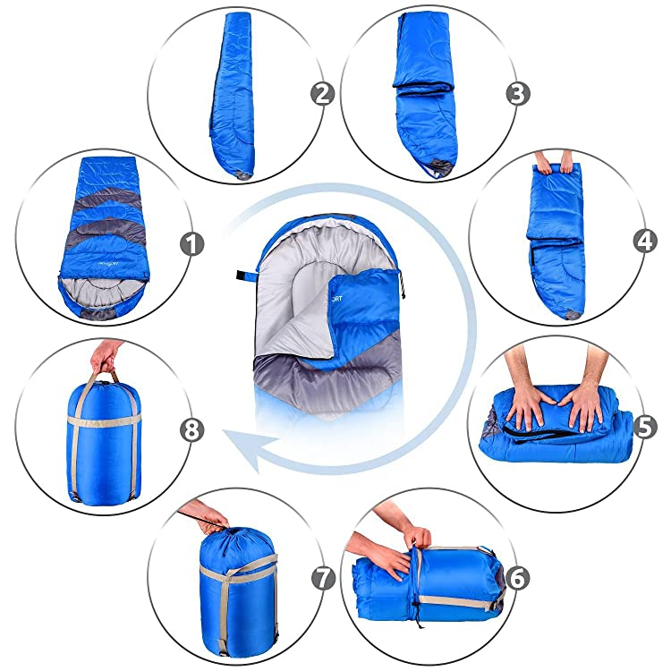 The sleeping bag offers you extra comfort during Adventurous activities but without adding any extra pounds to your backpack