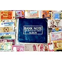 GOLD MINT 50+ Currency Note Album with 10 Different World Foreign Banknotes Legal Money Set