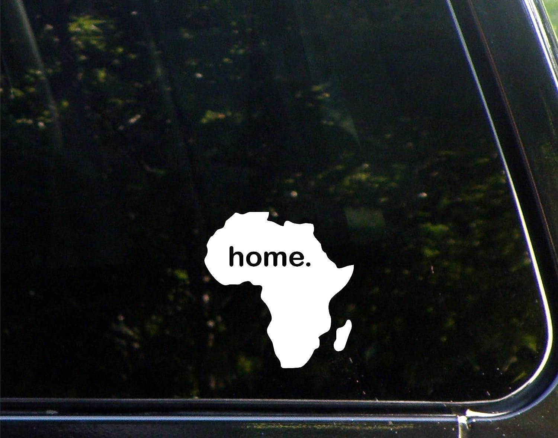 "Home in Africa - 4"" x 4"" - Vinyl Die Cut Decal/Bumper Sticker for Windows, Cars, Trucks, Laptops, Etc."