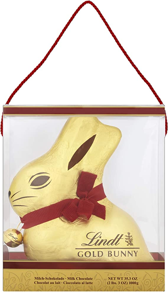 Lindt Giant Milk Chocolate Gold Bunny In A Presentation Carrier Gift Box 1 Kg