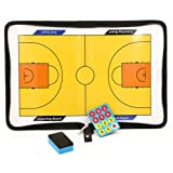 BTSKY Basketball Coach Magnetic Board Winning Strategy Board with Zipper, Perfect Leather Basketball Tactics Board for Coaches, Players (No Marker Pen)