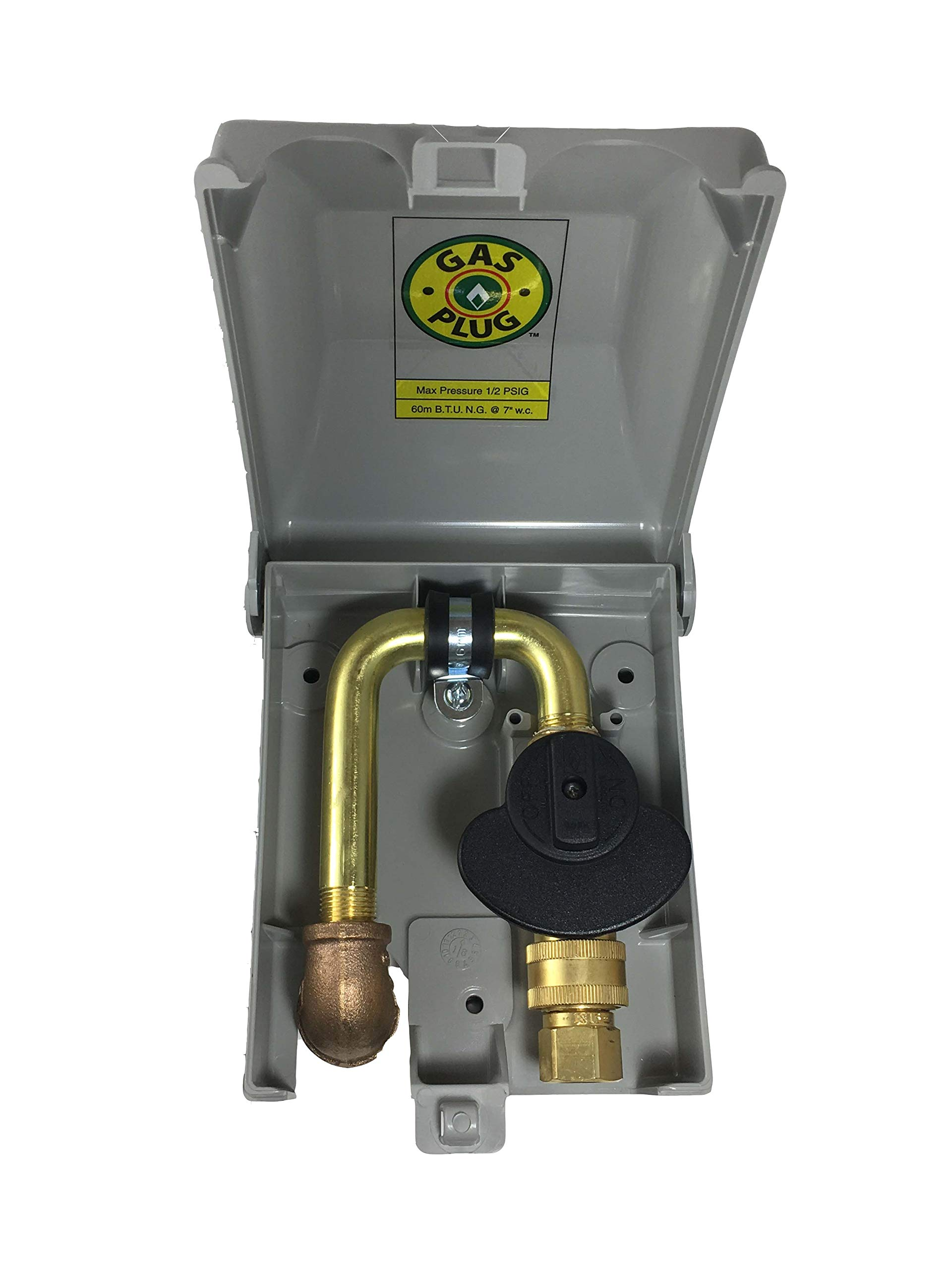 Burnaby Manufacturing Ltd G01016G50 PVC Plug Gas Outlet, 1/2-Inch, Grey