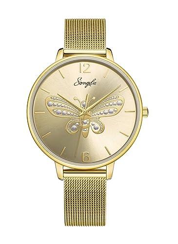 Amazon.com: songdu analógico para mujer reloj de cuarzo ...