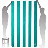 Wise Owl Microfiber Beach Towel (7' x 4')- Extra Large Quick Dry Beach Towel Oversized, Super Absorbent Beach & Swim Towels -