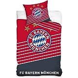 FC-BAYERN-MUNCHEN-Fussball BAUMWOLLE-140X200-passt-135x200 Bettwäsche