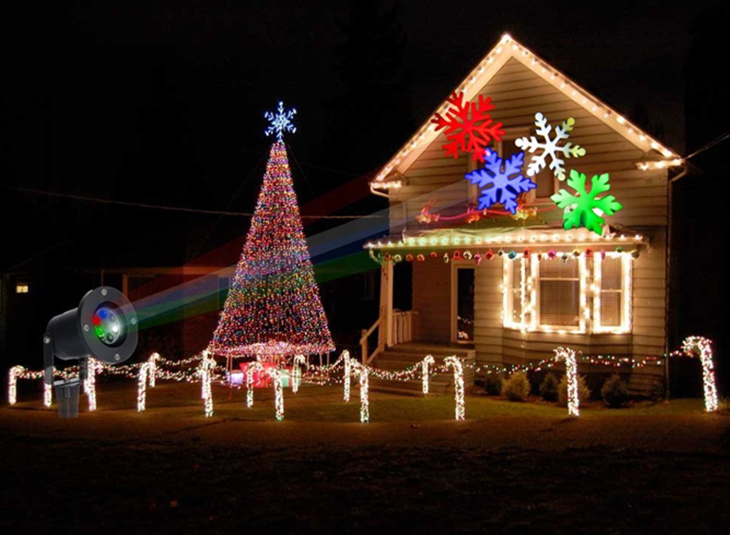 ABCDOK Laser Christmas Lights-Outdoor Holiday Light, Garden ...