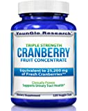 Cranberry Pills - Triple Strength PACRAN - Urinary Tract Health - 120 Soy-Free Non-GMO Vegetarian Capsules (1 Pack)