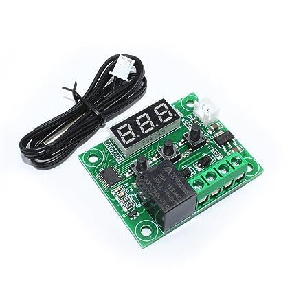 Megmoki DC 12V -50-110°C W1209 Digital LED Display Thermostat Temperature Control