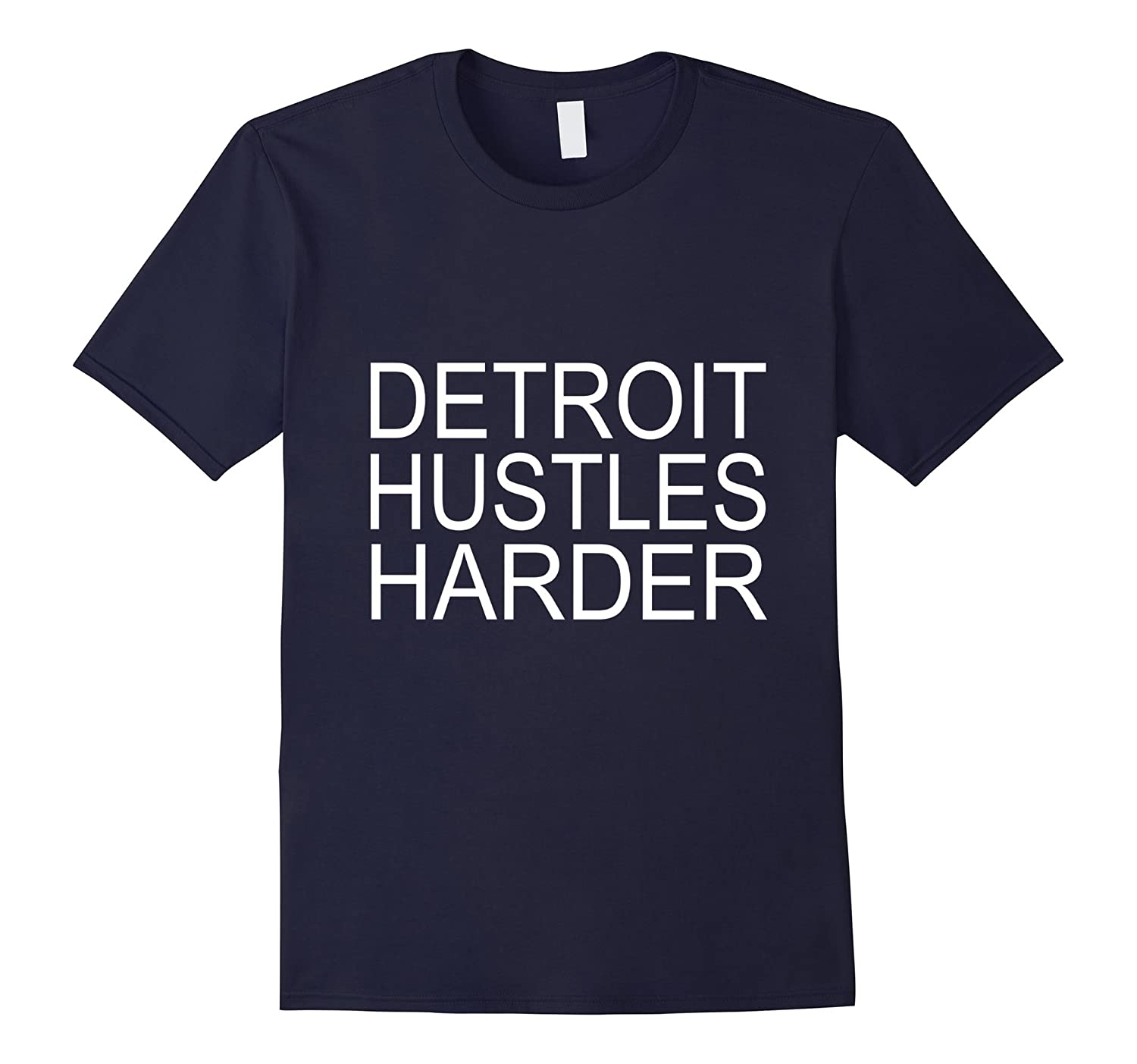 Detroit Hustles Harder T-Shirt-Art