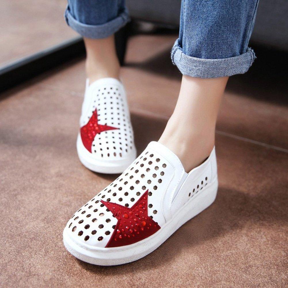 Btrada Fashion Hollow Loafers Women,Summer Shoes,Pull-on Sneaker Shoes,Pull-on Women,Summer Platforms,Comfortable Wedge Shoes B07FZZY4VV Platform f2b836