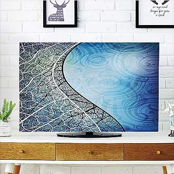 CANCA - Funda para televisor LCD, decoración Abstracta, diseño de Origami Curvo con Detalles Coloridos, Color Naranja, Azul, Blanco y Rojo, Compatible con impresión 3D de 65 Pulgadas: Amazon.es: Electrónica