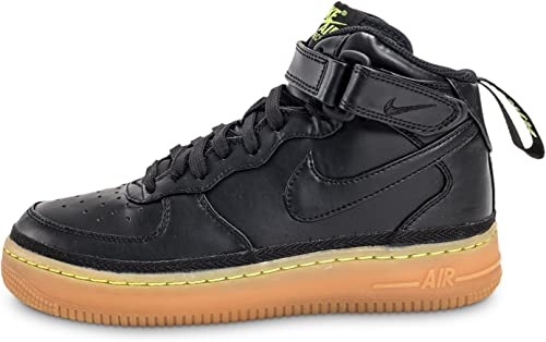 Nike Air Force 1 mid Gs Shoes Black High Top Train